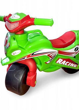 Толокар мотоцикл Doloni 0139/1/6 музыкальный (зеленый)