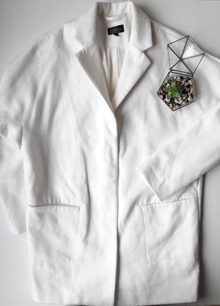 Белое пальто бойфренд topshop