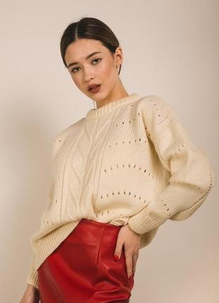 Супер мягкий вязаный свитер оверсайз oversize
