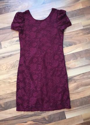 Красивое платье цвета марсала dunnes
