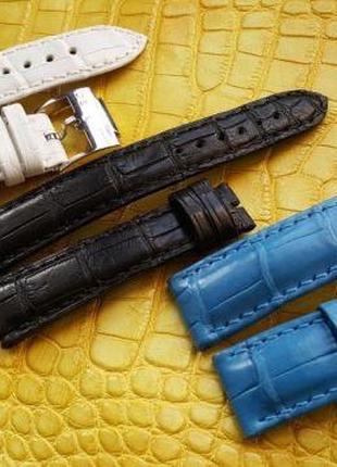Ремешок для часов из кожи крокодила LONGINES PERREGAUX BOVET RADO