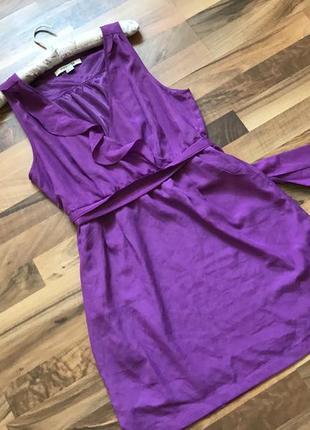 💜 платье миди цвета фуксия