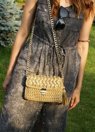 Вязаная сумка Disco из металлизированой трикотажной нити