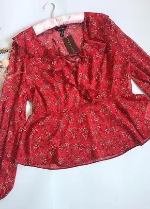 Блуза new look, новая с бирочкой р 16