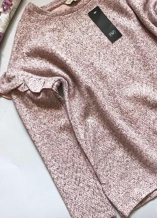 Нежно-розовый свитер f&f p 8/10 новый с бирками