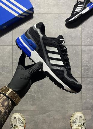 Мужские кроссовки adidas zx 750 black blue.