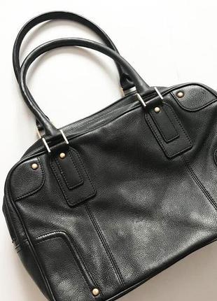 Кожаная сумка talbots  больших размеров  дорогой бренд