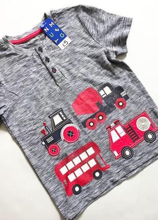 Новая детская футболка для мальчика 5-6 лет