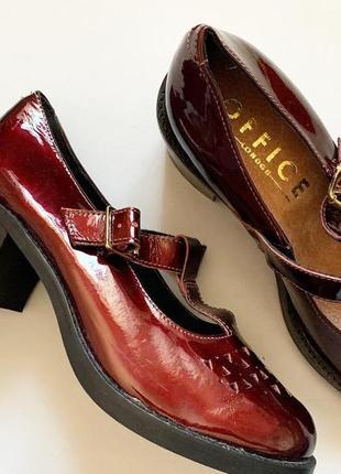 Туфли винного цвета office london