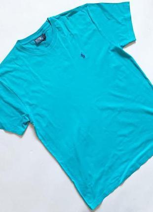 Мужская бирюзовая футболка polo ralph lauren