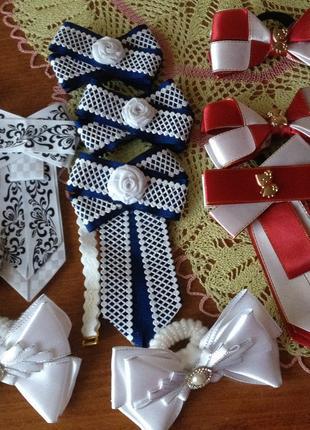 Банты и галстук - комплект в школу для девочки