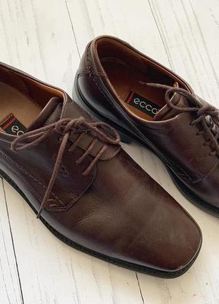 Мужские туфли ecco кожа