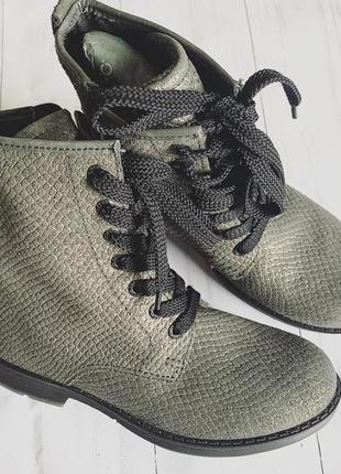 Кожаные теплые  ботинки ecco