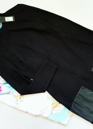 Чёрное платье river island со вставками под кожу