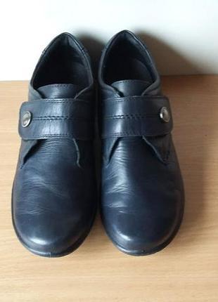Классные кожаные удобные туфли josef seibei 38 р. по стельке 2...