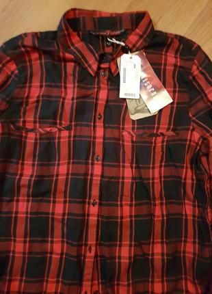 Модная тепленькая женская рубашка tom tailor