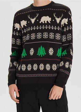 Продам новый мужской вязанный нарядный свитер кофта с празднич...