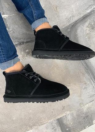 Ugg black мужские зимние ботинки с теплым мехом /осень/зима/ве...