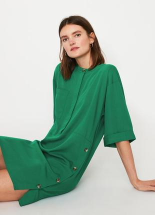 Платье изумрудного цвета warehouse размер 8