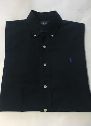 Чёрная рубашка ralph lauren