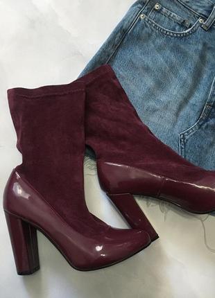 Очень стильные ботиночки на каблуке, туфли
