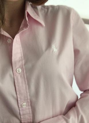Нежно -розовая рубашка ralph lauren оригинал