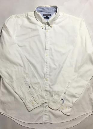 Белая рубашка tommy hilfiger оригинал