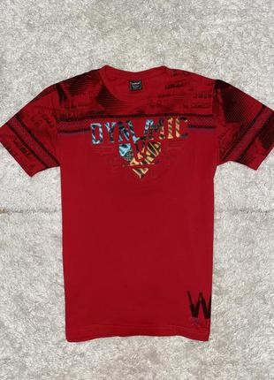 Шикарная футболка красная comeor the original elegance  made i...