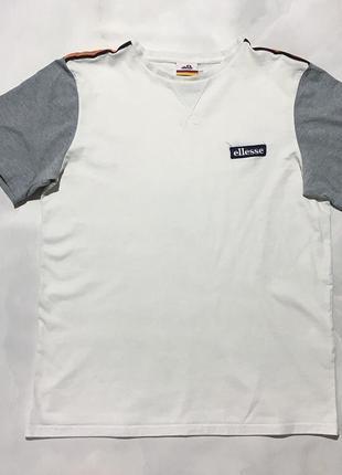 Белая хлопковая футболка ellesse оригинал