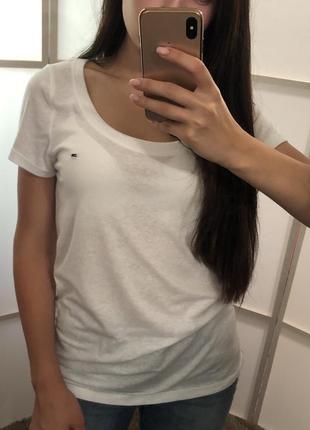 Белая футболка tommy hilfiger оригинал
