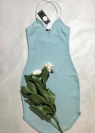 Шикарное платье на тонких бретельках