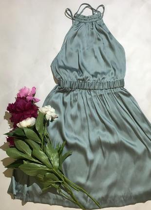 Шикарное шёлковое платье с открытой спиной h&m
