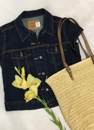 Джинсовый пиджак с коротким рукавом от levi's оригинал