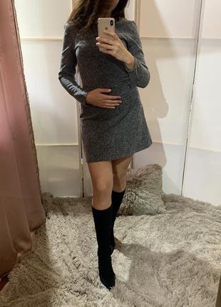 Твидовое платье h&m