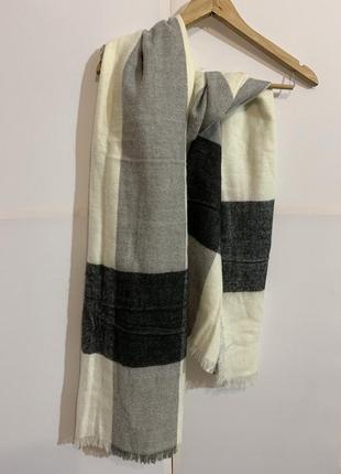 Тёплый объемный шарф
