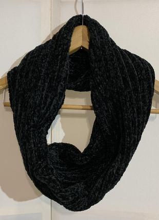 Хомут , шарф чёрный велюровый