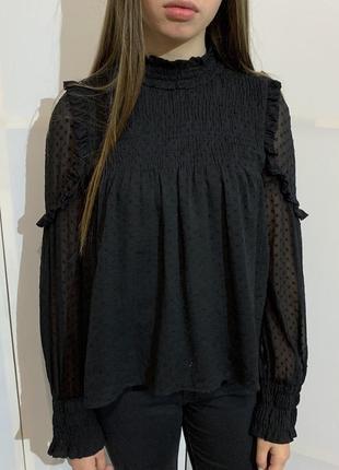 Блуза чёрная zara
