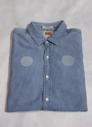 Стильная джинсовая рубашка levi's оригинал