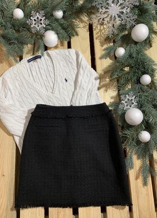 Твидовая юбка h&m