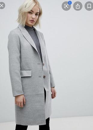 Осеннее пальто длинное , двубортное new look