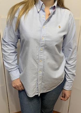 Оригинальная хлопковая рубашка ralph lauren оригинал