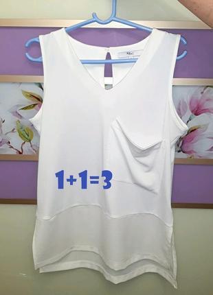 🎁1+1=3 нарядная белая блуза с нагрудным карманом next, размер ...
