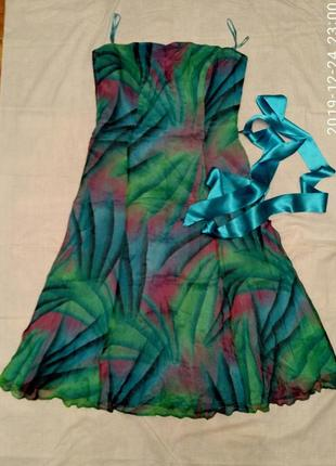 Платье бюстье без бретелек 💯 шелк