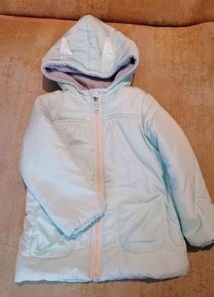 Зимняя куртка на флисовой подкладке для девочки (еврозима)