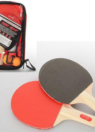 Набор ракеток для настольного тенниса MS 0224 с шариками
