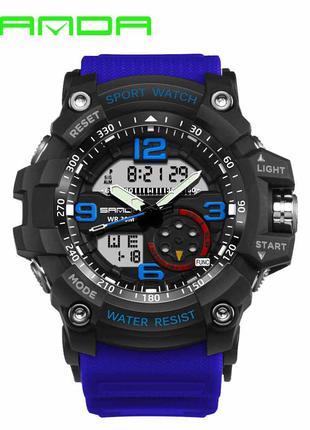 Мужские спортивные часы Sanda 759 Blue-Black