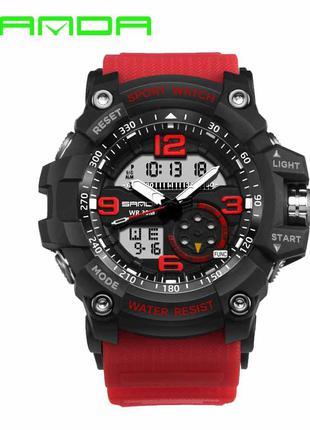 Мужские спортивные часы Sanda 759 Red-Black
