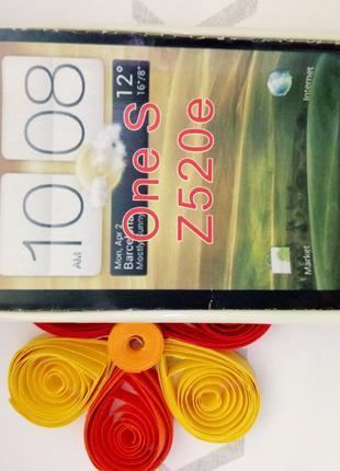 Чехол для HTC One S/Z520e (пластик белый)