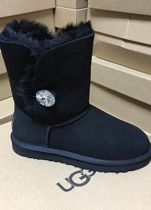 Женские сапоги ugg bailey button bling black