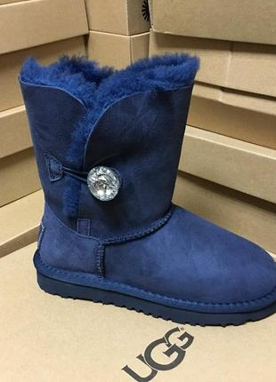 Женские сапоги ugg bailey button bling blue